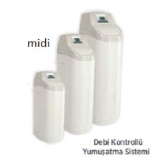 Midi Kabinetli Debi Kontrollü, 20 L Reçine, Su Yumuşatma Sistemi