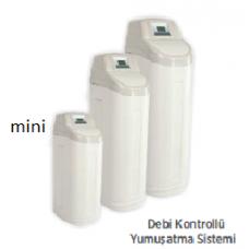 Mini Kabinetli Debi Kontrollü, 12,5 L Reçine, Su Yumuşatma Sistemi